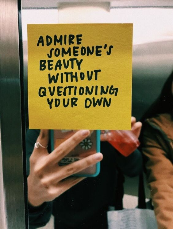 karrie bradshaw admire someones beauty without questioning your own quotes