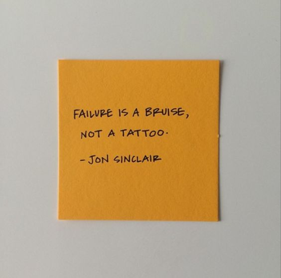 karrie bradshaw quotes failure is a bruise not a tattoo