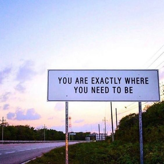 karrie bradshaw quotes you are exactly where you need to be